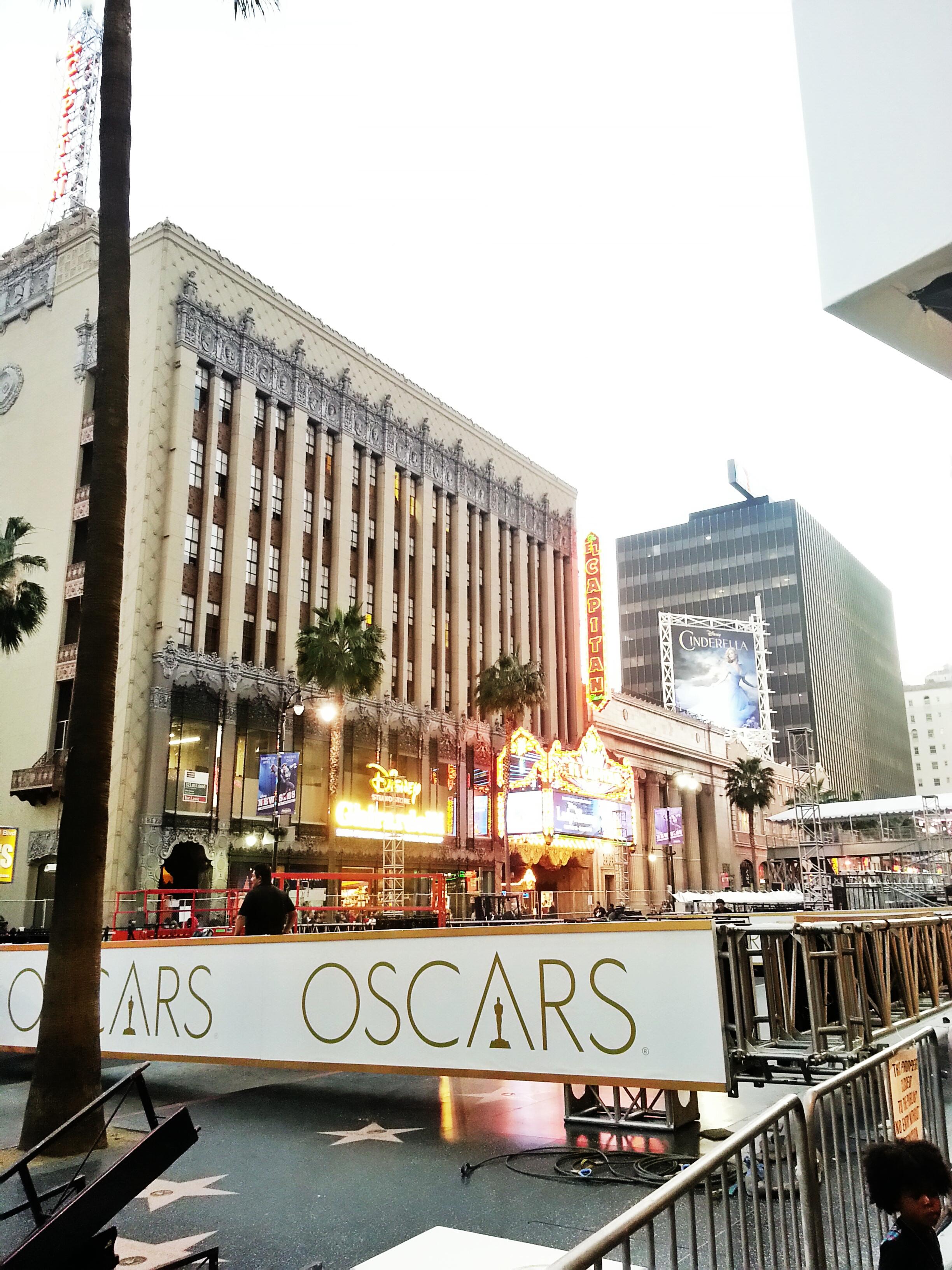 Hollywood Blvd preparing for the Oscars