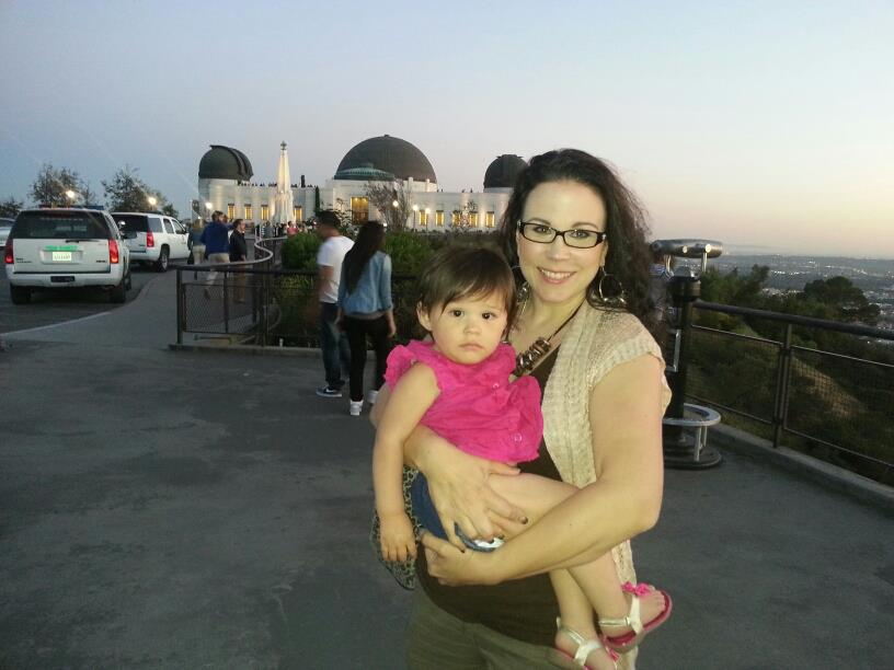 My daughter and I at Griffith observatory