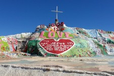The brightly painted Salvation Mountain